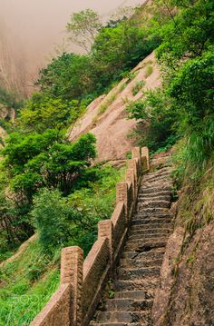 Huangshan, Steep stairs - Shot in Huangshan with a Leica M9 and a Leica Summilux-M 50mm f/1.4