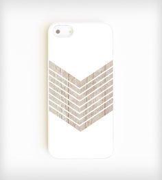 Faux Wood Geometric iPhone Case - White | Gear & Gadgets iPhone | On Your Case | Scoutmob Shoppe | Product Detail