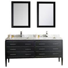 Photo Image Fresca Torino White Modern Bathroom Vanity w Integrated Sink Bathroom Designs Ideas Pinterest Bathroom vanities Modern bathroom vanities and