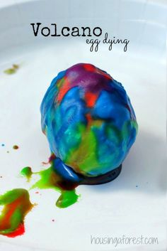 Volcano Egg Dying ~ Easter Egg Decorating Ideas