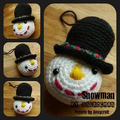 Ravelry: xnekochan's Snowman -  Crochet Christmas Ornaments