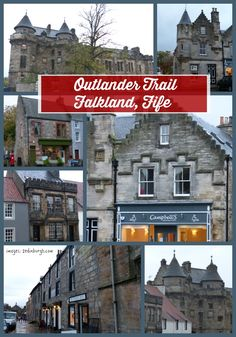 Outlander trail Falkland which becomes 1940s Inverness for series 1 of the Outlander Starz TV production.  Filming took place back in 2013.