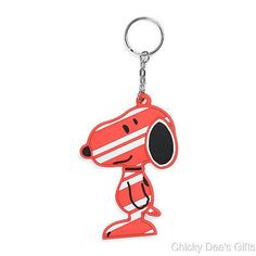 Peanuts Snoopy By Design Candy Canine Keychain  Christmas NEW retired