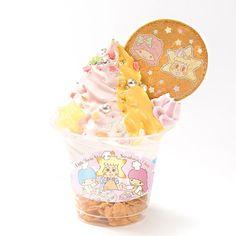【2015.06.12 - 07.31】★ Skytree Cafe Ice-Cream ララとソラカラソフト ★590円(税込) ★ #SanrioLicenseJapan #TokyoSkytree ★ #LittleTwinStars