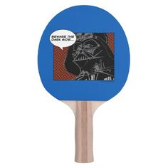 "Darth Vader Comic ""Beware The Dark Side"" Ping Pong Paddle #darth #vader #illustration #comic #strip #PingPongPaddle"