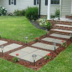 75 Cheap and Easy Front Yard Curb Appeal Ideas - Prudent Penny Pincher Make your home eye-catching with these creative front yard DIY ideas that will improve your curb appeal without too much money or effort. Front Door Makeover, Backyard Makeover, Exterior Makeover, Landscape Design, Garden Design, House Design, Front Yard Landscaping, Landscaping Tips, Outdoor Landscaping