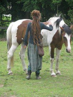 rasta dreads horse cheval