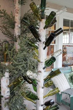Bottle Tree  Itsy Bits and Pieces: The Bachman's 2011 Holiday Ideas House