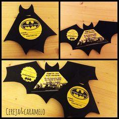 Convite de aniversário. Tema: Batman
