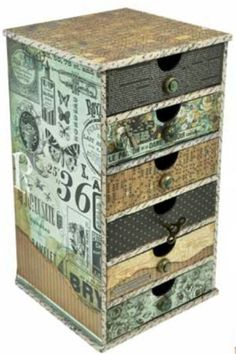"cardboard shelves Live out Loud: Kaisercraft CHA Winter ""Sneak Peeks"" One Cardboard Storage, Cardboard Furniture, Cardboard Crafts, Painted Furniture, Paper Crafts, Cardboard Playhouse, Art Furniture, Furniture Design, Art Storage"
