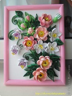Картина панно рисунок Валентинов день День матери День рождения Квиллинг Квиллинг с Любовью Бумага фото 3