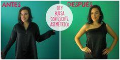 DIY: Recicla una blusa vieja y transformala en una blusa con corte asimétrico, un paso a paso muy fácil y ¡por 0€!
