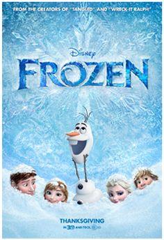 Free Movie Ticket to Disney's Frozen with a Disney Movie Purchase!