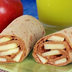 Peanutty Apple Wraps. Interesting. Wonder if 1) honey is necessary and 2) my kids would actually eat it.