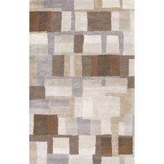 Jaipur Rugs Modern Geometric Pattern Gray/Brown Wool and Art Silk Area Rug BL126 (Rectangle)