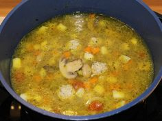 Csorba leves recept lépés 7 foto Cheeseburger Chowder, Curry, Soup, Ethnic Recipes, Curries, Soups