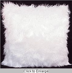 Furry Pillows | PMP reader asked me where to find retrolicious white furry pillows ...