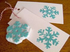 Get ready for some festive cheer! Decorate your own gift tags, cards, wrapping paper or invitations. This design is hand carved from soft