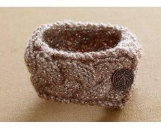 Lion Brand Glittering Knit Bracelet Pattern