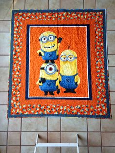 Minion quilt for someone special. | Quilting | Pinterest | Panel ... : minion quilt - Adamdwight.com