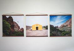 gallery | make your own photo hangers out of wood and twine