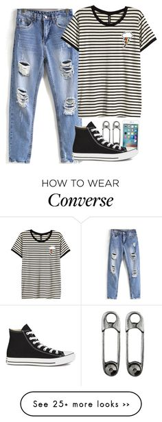"""""""every day look"""" by fungirl1forlife on Polyvore featuring H&M and Converse"""