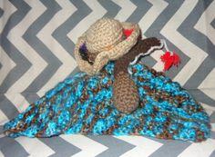 Little Fisher Blanket Lovey Rattle by GypsySoulsCrafts on Etsy