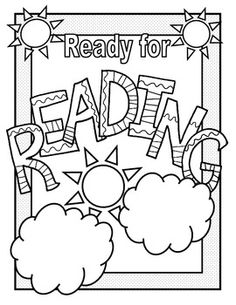 Math and Reading Doodle Coloring Pages - Free