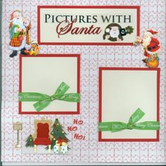 PICTURES-WITH-SANTA-2-PAGE-premade-scrapbook-layout-by-SASSY-Christmas-wreath