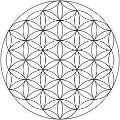 """""""La flor de la vida es un símbolo secreto creado por la inscripción de 13  círculos de la Flor de Vida. Al hacer esto, uno puede descubrir el modelo  más importante y sagrado en el universo. """"   Un simbolo que encontramos en todas partes del mundo"""
