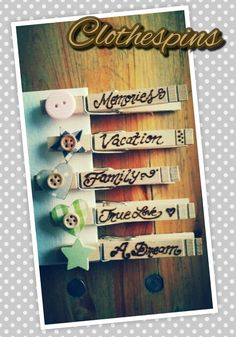Clothespins *Branding*