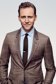 Tom Hiddleston for GQ March 2017 | Suit jacket, $2,300, shirt, $450, and tie, $215, by Louis Vuitton / Tie bar, $15, by The Tie Bar / Hair by Johnnie Sapong using Leonor Greyl / Grooming by Johnnie Sapong using Dr. Hauschka / Produced by Ragi Dholakia Productions.