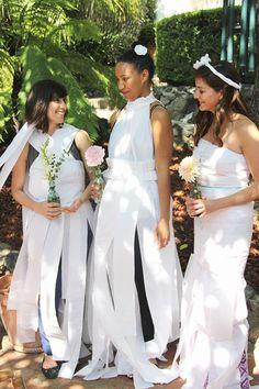 My Bridal Shower Paper DressesToilet