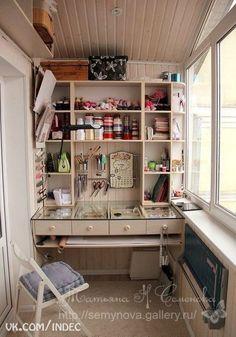 Great idea for a nook - love the glass desk.