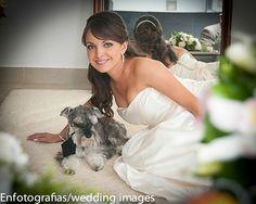 Fotografiar a la novia junto con su mascota le será un recuerdo entrañable y único