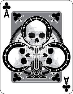 Skulled Aces of Clubs by crackmatrix.deviantart.com on @deviantART