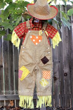 DIY Toddler Scarecrow Costume With RIT Dye | Happiness is Homemade
