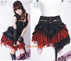 *COSMETIC* Kera PUNK DOLLY 21034 gothic SKIRT+wrap BR