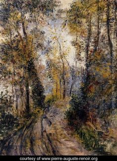 The Path Through The Forest - Pierre Auguste Renoir - www.pierre-auguste-renoir.org