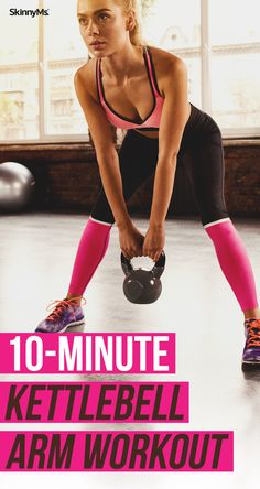 This simple Kettlebell Arm Workout will burn calories, and help you build beautifully sculpted arms. This simple Kettlebell Arm Workout will burn calories, and help you build beautifully sculpted arms. Circuit Kettlebell, Kettlebell Training, Kettlebell Benefits, Kettlebell Arm Workout For Women, Kettlebell Challenge, Kettlebell Exercises For Arms, Full Arm Workout, Arm Workout Women With Weights, Kettlebell Deadlift