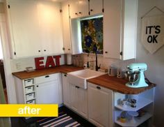 Kitchen Before After A California Bungalow Loses The Orange Reader