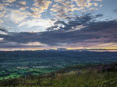 Moel Fammau, on the Clwydian Range, North Wales looking accross towards Mount Snowdon