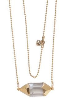Gold Cap Quartz Necklace - Thinking about this in ring form. :)