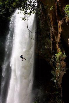 Waterfall Rappelling,  Cachoeira de Matilde, Brazil photo via infinite