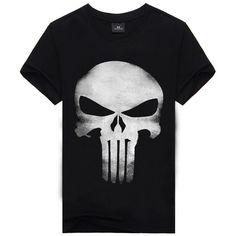 3D T Shirt Men Plus Size Cotton Tops Tee Skull Printed Short Sleeve Cotton T-shirt Men Hip Hop Sport Camisetas Brand Clothing