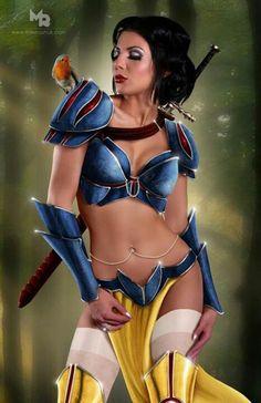 Snow white warrior princess