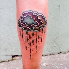 Yes, fall is also rainy... But it is better to have clouds in your leg than in your sky! Tattoo by Aivaras Ly.