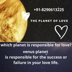 Planet venus Love, marriage and romance are ruled by the planet Venus. This is a planet that is responsible for the success or failure in your love life. Venus governs men's marriage prospects, and women's prospects are governed by Mars and Jupiter.