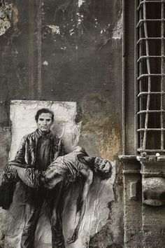 """Pasolini assassiné - Si je reviens"", Rome, 2015 - Ernest Pignon-Ernest"