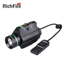 [Outdoor Sports] Tactical pistol 5mw green laser stroboscopic LED flashlight